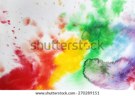 Watercolor splashes background - stock photo