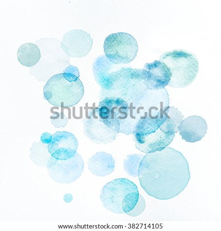 Watercolor Splatters - stock photo
