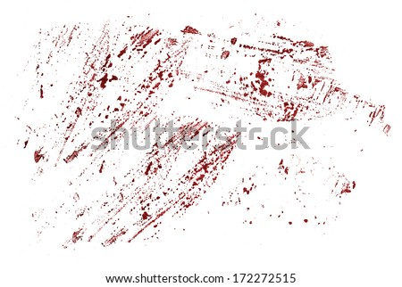 Watercolor stains that look like blood - stock photo