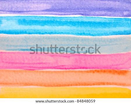 Watercolor stripes 3 - stock photo