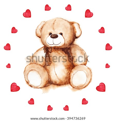 Teddy Bear Heart Images RoyaltyFree Images Vectors – Teddy Bear Valentines Day Card