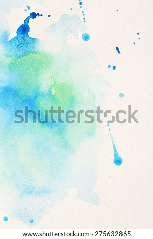 Watercolor texture on paper close-up - stock photo