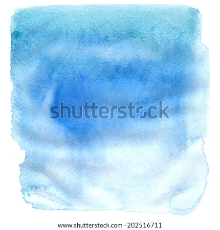 Watercolor texture on white background, square