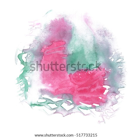 watercolor textured red green backdrop, abstract watercolor hand paint texture, isolated on white background, watercolor drop