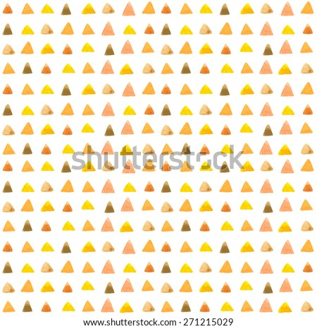watercolor triangle pattern over white - stock photo