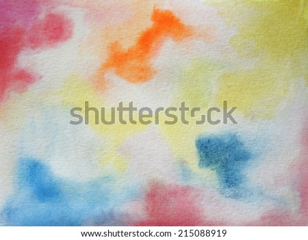 watercolor wash background - stock photo