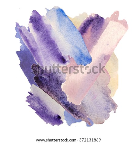Watercolor Wash Background. Abstract watercolor art hand painted background. Watercolor stains. colorful vintage water colour texture