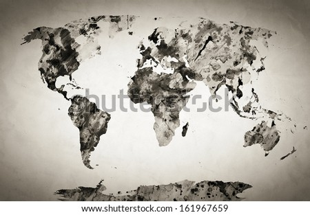 World Map Black And White Stock Images Royalty Free Images