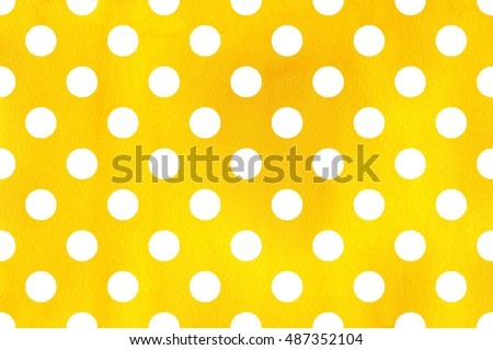 watercolor yellow polka dot background pattern with white polka dots for scrapbooks wedding