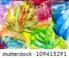 watercolors abstract bright flower as background - stock vector