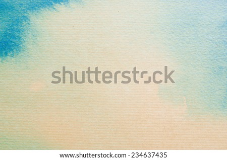 watercolors on textured paper - stock photo