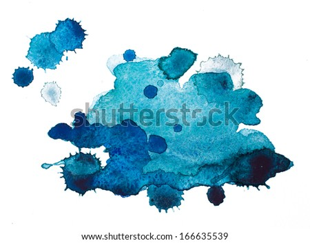 Watercolour blots - stock photo