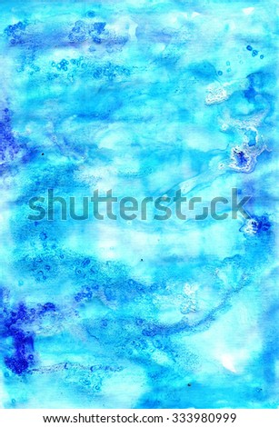 Watercolour blue colorful  grunge  backdrop  for different design - stock photo