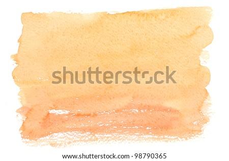 Watercolour frame over white - stock photo