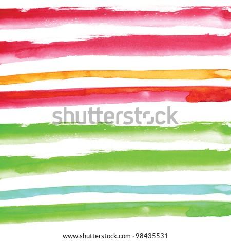 watercolour handmade background line element - stock photo