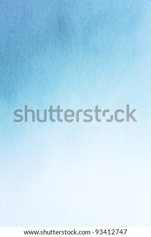 Watercolour paper texture for artwork / Old blue paper texture - stock photo