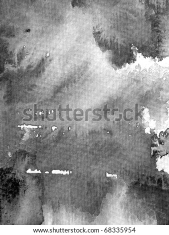 Watercolour Textures in Black & White 7 - stock photo