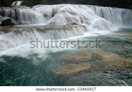 Waterfall Agua Azul Mexico - stock photo