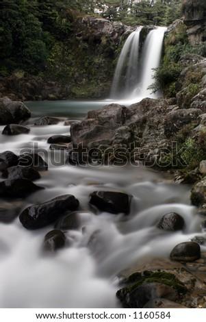 Waterfall and rapids - stock photo