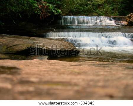 Waterfall Appalachian - stock photo