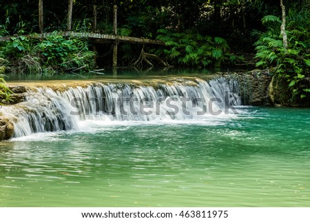 Waterfall at Champasak province, Laos