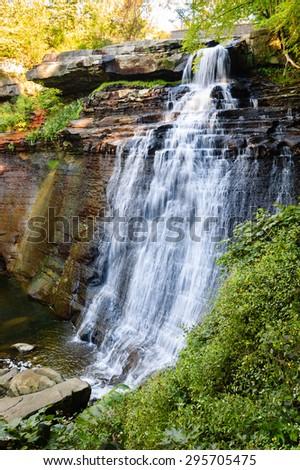 Waterfall at Cuyahoga Valley National Park - stock photo