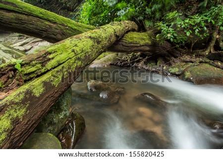 Waterfall at Phu Soi Dao National Park, Uttaradit, Thailand - stock photo