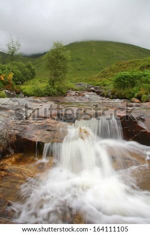 Waterfall at Scottish highlands, Scotland. UK. - stock photo