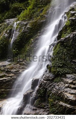 Waterfall at Sikkim, Sikkim, India, Circa May 2009