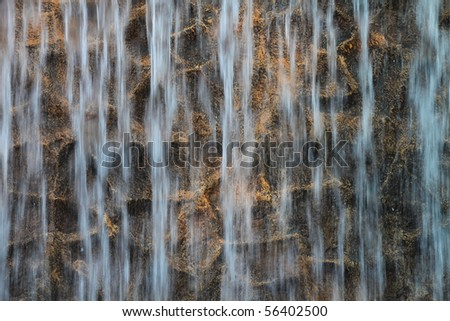 Waterfall background for different uses - stock photo