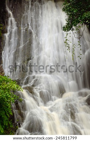 waterfall, Barron Gorge, Cairns, Queensland, Australia - stock photo