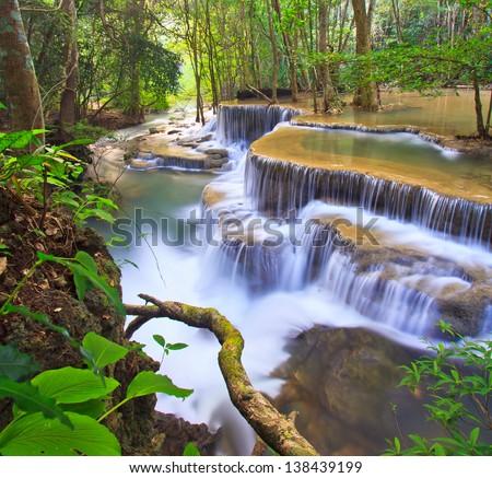 Waterfall  beautiful - stock photo