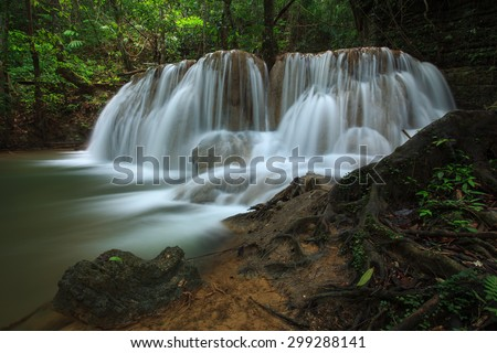 Waterfall beautiful in trang province asia southeast asia Thailand