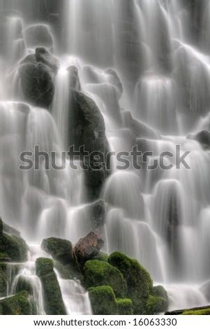 Waterfall Closeup - stock photo