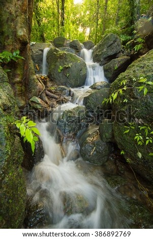 Waterfall from  Thailand - stock photo