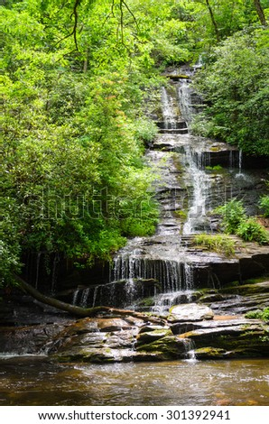 Waterfall, Great Smoky Mountains National Park - stock photo