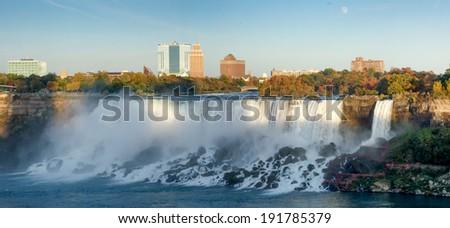 Waterfall, Horseshoe Falls, Niagara River, Niagara Falls, Ontario, Canada - stock photo