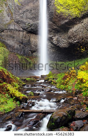 waterfall in autumn - Latourelle Falls near Portland, Oregon