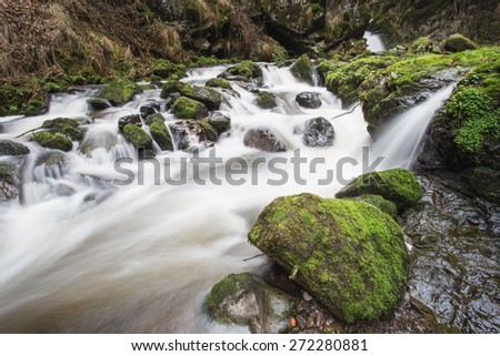 waterfall in back forest, Germany  - stock photo