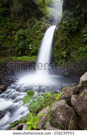 Waterfall in Costa Rica - stock photo