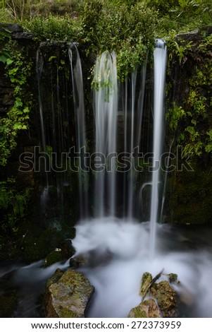 Waterfall in Crete at Asi Gonia village - stock photo