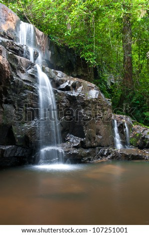 Waterfall in Eastern part of Thailand - stock photo