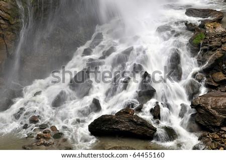 waterfall in gorge Kitzlochklamm - National Park Hohe Tauern, Austria - stock photo