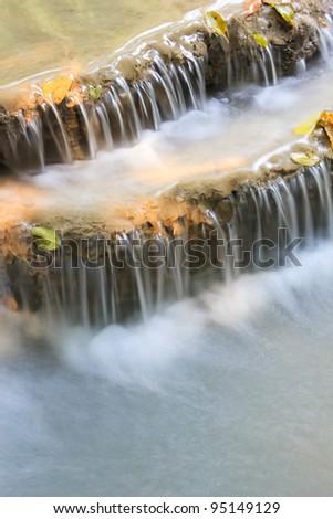 Waterfall in Kanchanaburi,Thailand - stock photo