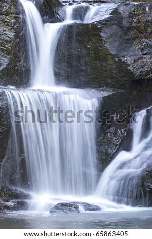 Waterfall in Khao Yai National Park Thailand - stock photo
