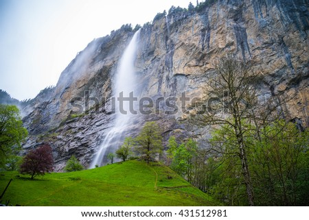 Waterfall in Lauterbrunnen - Switzerland