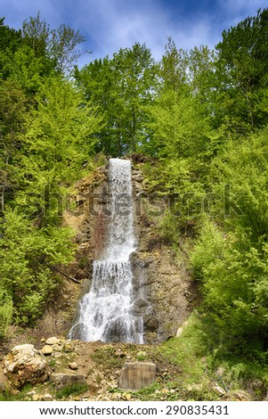 waterfall in Mara. Maramures region. Romania
