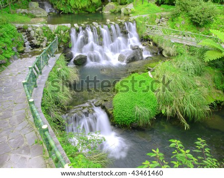 Waterfall in mountain