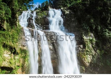 Waterfall in Nuwara Ellia Sri lanka  - stock photo