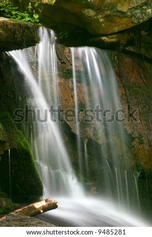 Waterfall in rural Northwest Georgia - stock photo